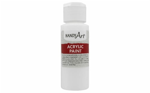 Handy Art Student Acrylic Paint - Blockout White Perspective: front