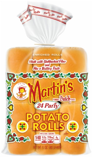Martin's Party Potato Rolls 24 Count Perspective: front