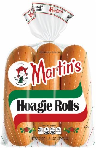 Martin's Hoagie Rolls 6 Count Perspective: front