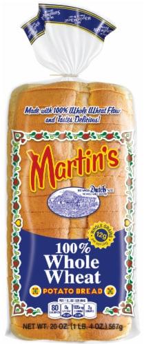 Martin's 100% Whole Wheat Potato Bread Perspective: front