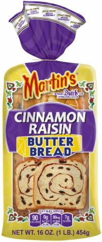 Martin's Cinnamon Raisin Butter Bread Perspective: front