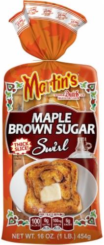 Martins Maple Brown Sugar Swirl Potato Bread Perspective: front