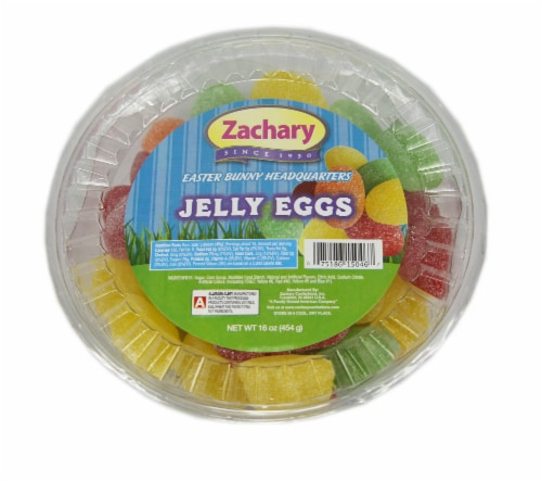Zachary Jelly Eggs Candy Perspective: front