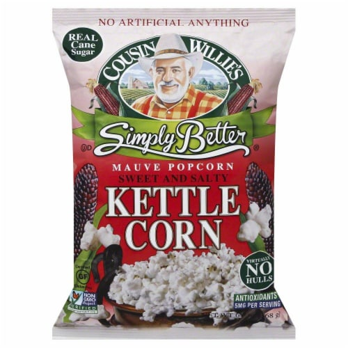 Cousin Willie's Simply Better Sweet & Salty Kettle Popcorn Perspective: front