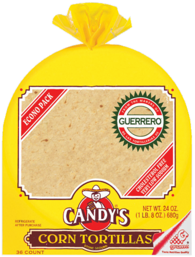 Candy's Corn Tortilla Perspective: front