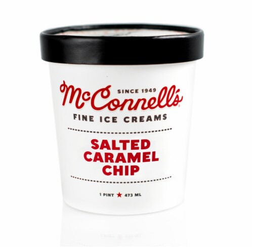 McConnell's Salted Caramel Chip Ice Cream Perspective: front