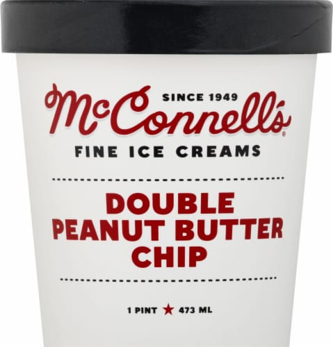 McConnell's Double Peanut Butter Chip Ice Cream Perspective: front