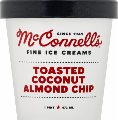 McConnell's Toasted Coconut Almond Chip Ice Cream Perspective: front
