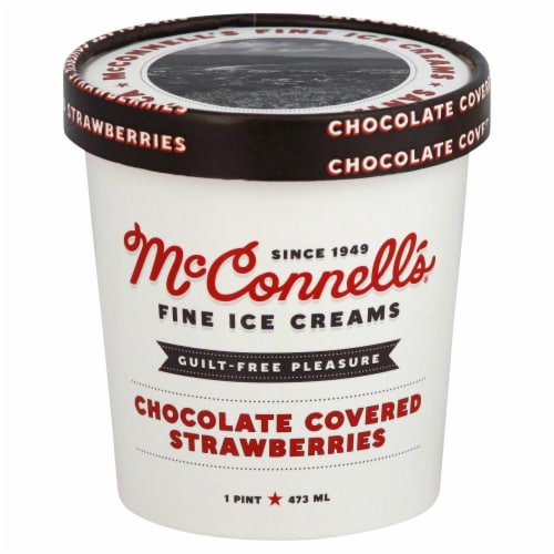 McConnell's Chocolate Covered Strawberry Ice Cream Perspective: front