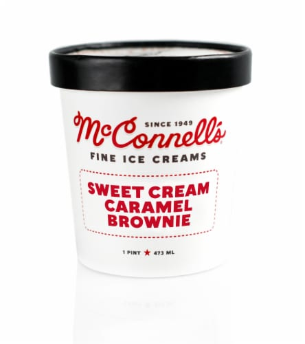 McConnell's Sweet Cream Caramel Brownie Ice Cream Perspective: front