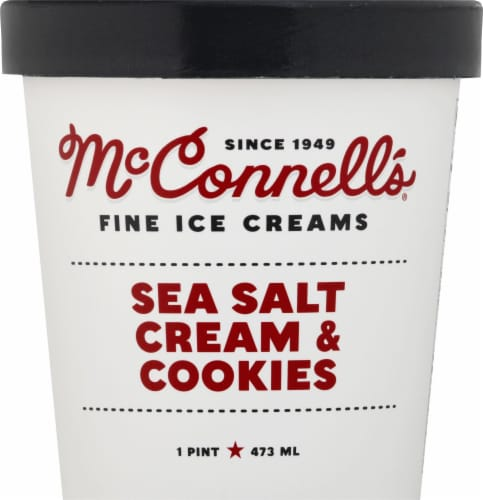 McConnell's Salted Cream & Cookie Ice Cream Perspective: front
