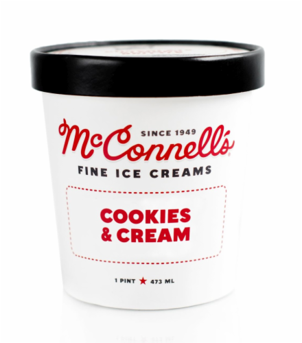 McConnell's Cookies & Cream Fine Ice Cream Perspective: front