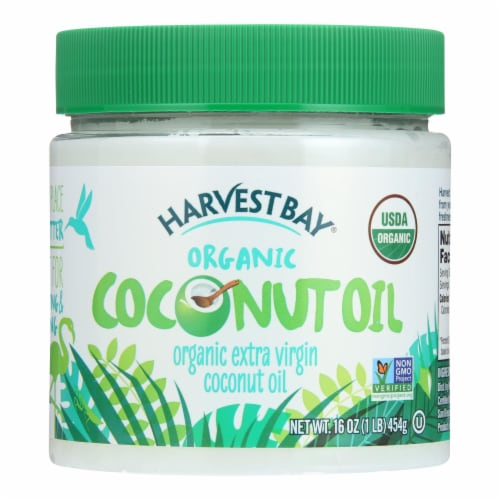 Harvest Bay Extra Virgin Organic Coconut Oil Perspective: front