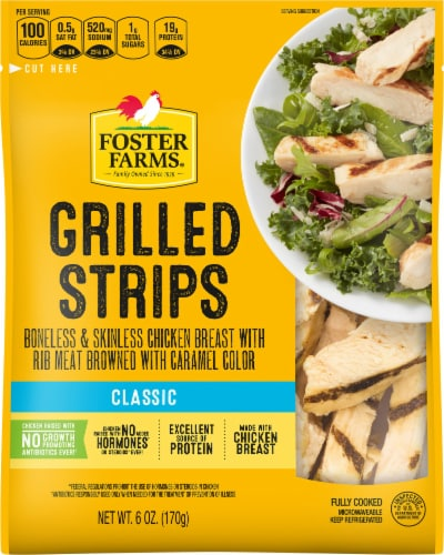 Foster Farms Grilled Chicken Breast Strips Perspective: front