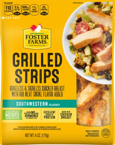 Foster Farms Southwestern Chicken Breast Strips Perspective: front