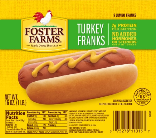 Foster Farms Turkey Franks Perspective: front
