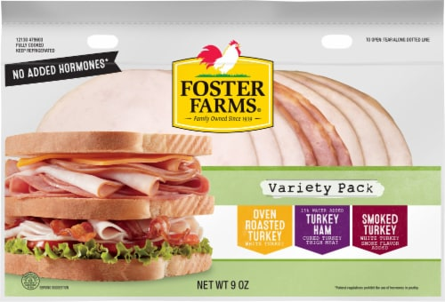 Foster Farms Lunch Meat Club Sandwich Variety Pack Perspective: front