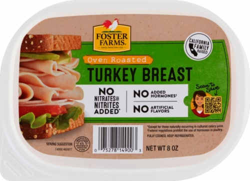Foster Farms Sliced Oven Roasted Turkey Breast Perspective: front