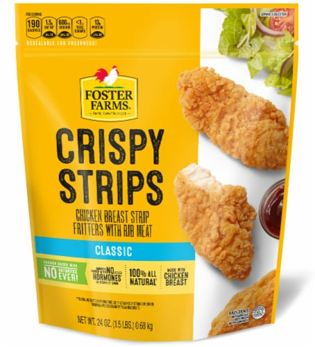 Foster Farms Crispy Chicken Strips Perspective: front