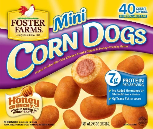 Foster Farms Honey Crunchy Mini Corn Dogs Perspective: front