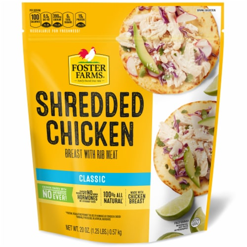 Foster Farms® Shredded Chicken Breast Perspective: front