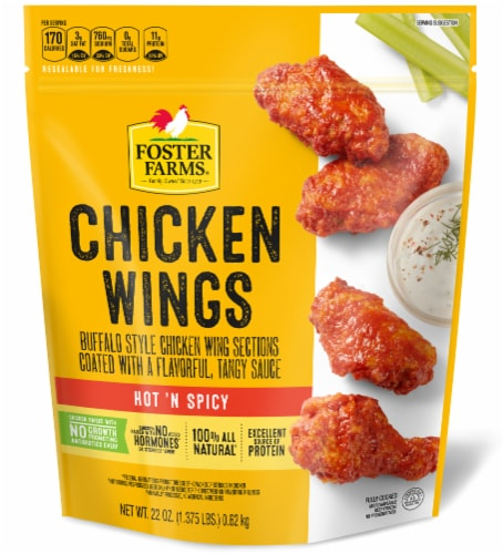 Foster Farms All Natural Hot 'N Spicy Chicken Wings Perspective: front