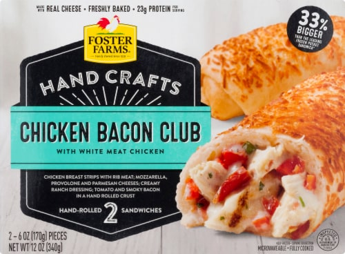 Foster Farms Chicken Bacon Club Hand-Rolled Sandwiches Perspective: front