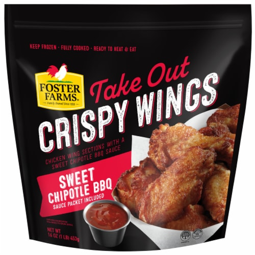 Foster Farms Sweet Chipotle BBQ Take Out Crispy Wings Perspective: front