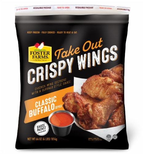 Foster Farms Take Out Classic Buffalo Style Crispy Wings Perspective: front