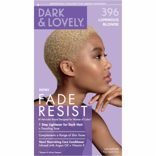 Dark & Lovely 396 Luminous Blonde Fade Resist Hair Color Perspective: front