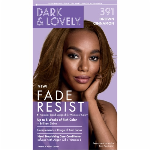 SoftSheen Carson Dark and Lovely Brown Cinnamon 391 Hair Color Perspective: front