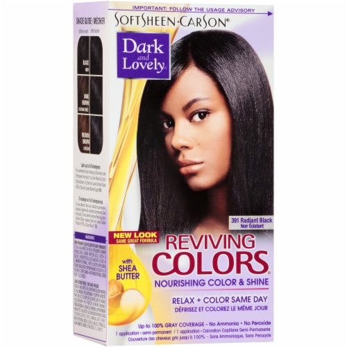 Dark & Lovely Reviving Colors 391 Radiant Black Semi-Permanent Hair Color Perspective: front