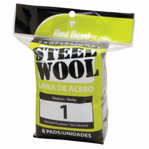 Red Devil® Professional Steel Wool Pads - 8 Count Perspective: front