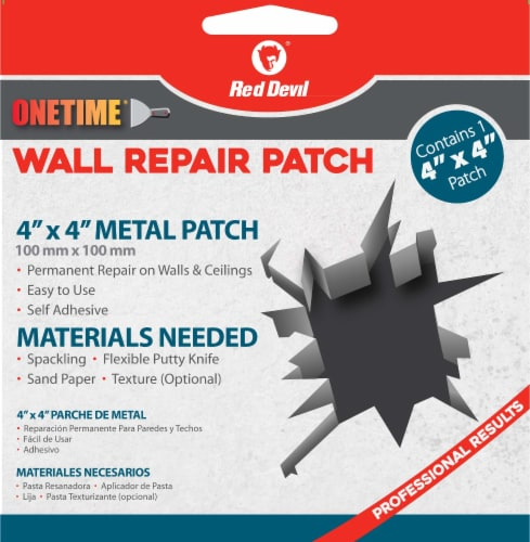 Red Devil® Onetime Metal Wall Repair Patch Perspective: front