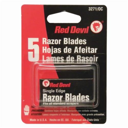 Red Devil® Single Edge Razor Blades - 5 Count Perspective: front