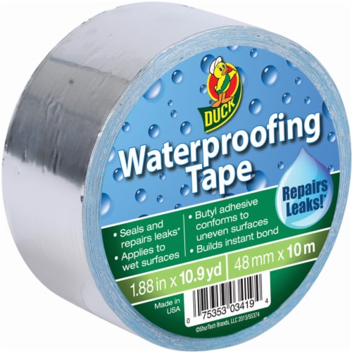 Duck® Waterproofing Tape - Silver Perspective: front