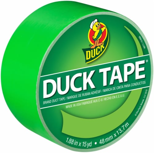Duck® Brand Color Duct Tape - Neon Green Perspective: front