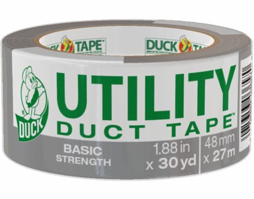 Duck® Basic Strength Utility Duct Tape - Gray Perspective: front