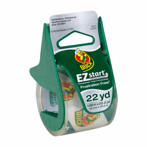 Duck® EZ Start Tape with Dispenser Perspective: front