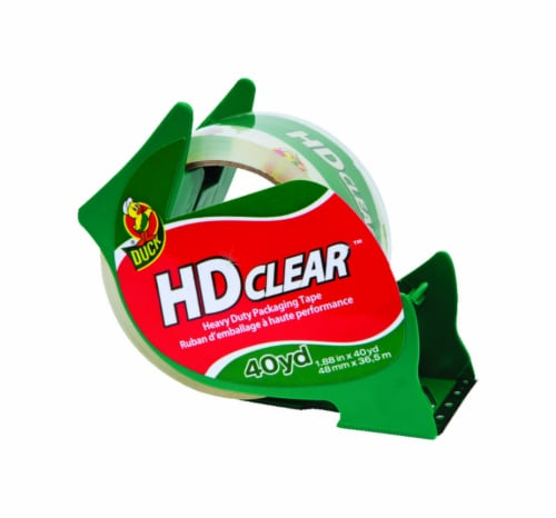 Duck HD Clear 1.88 in. W x 40 yd. L Heavy Duty Packaging Tape Clear - Case Of: 1; Perspective: front