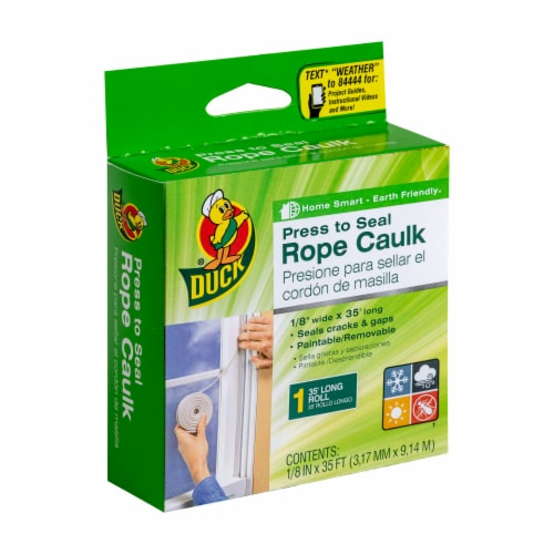 Duck® Rope Caulk - White Perspective: front