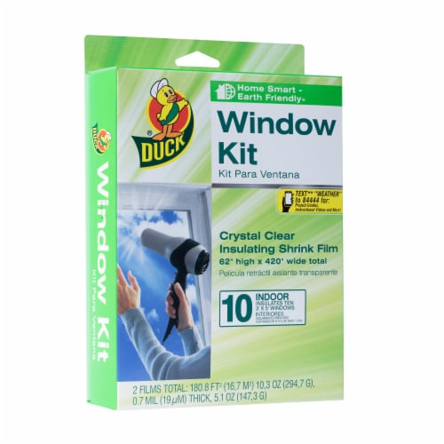 Duck® Insulating Shrink Film Window Kit Perspective: front