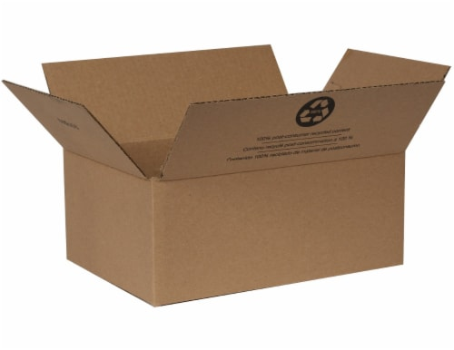 Duck® Kraft Moving and Storage Box - Brown Perspective: front