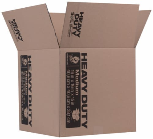 Duck® Heavy-Duty Storage and Moving Box - Brown Perspective: front