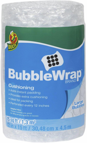 Duck® Large Bubble Wrap® Cushioning - Clear Perspective: front