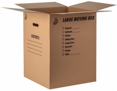 Duck Kraft Moving and Storage Box - Brown Perspective: front