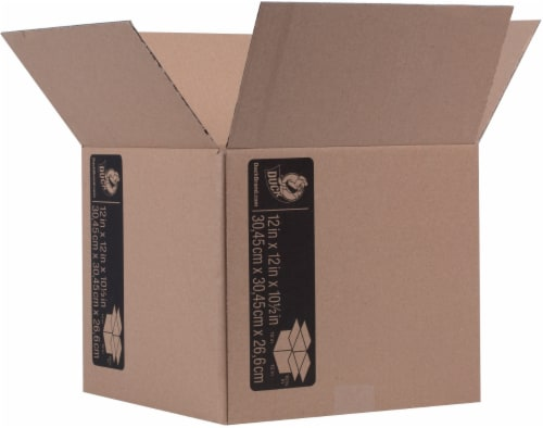 Duck® Brown Kraft Moving and Storage Box Perspective: front