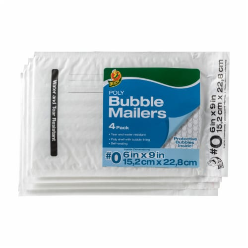 Duck® Poly Bubble Mailers - 4 pk Perspective: front