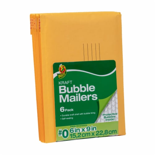 Duck Bubble Mailers - 6 Pack Perspective: front
