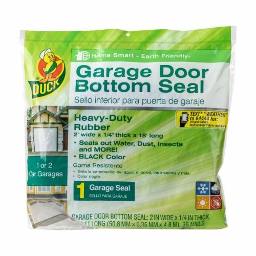 Duck® Wood Garage Door Bottom Seal - Black Perspective: front